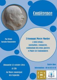 Conference l etonnant pierre mortier dimanche 12 octobre 15 h 00 musee des capucins