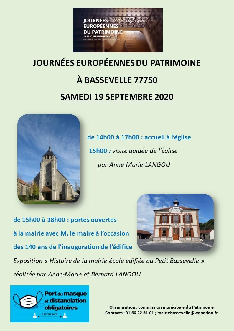 Journee du patrimoine a bassevelle 19 septembre